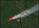 Blackjack Bay Fire in Okefenokee Refuge