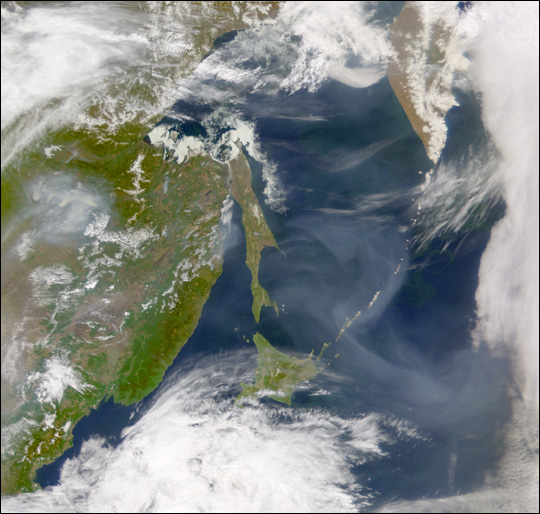 Smoke from Eastern Russia
