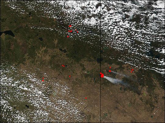 Fires in Canada's Prairie Provinces