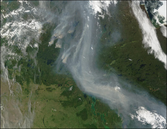 Fires in Canada's Prairie Provinces