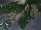 Fires and Smoke Across Japan