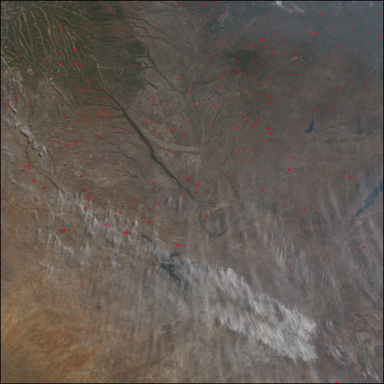 Widespread Burning across South Central Africa