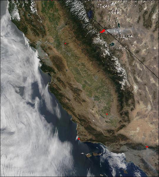 Cannon Fire in California and Nevada