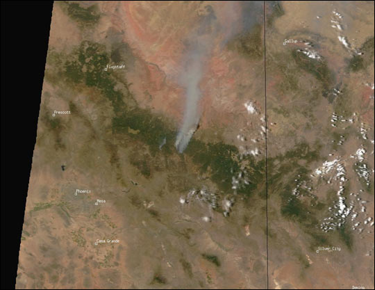 Rodeo and Chediski Fires in Arizona