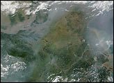 Fires and Smoke in Eastern China