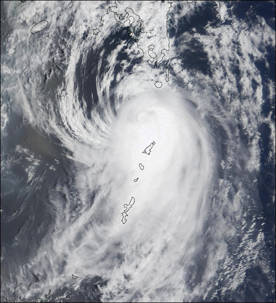 Super Typhoon Halong in Western Pacific