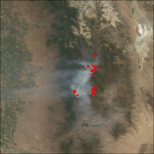 McNalley and Pines Fires in California
