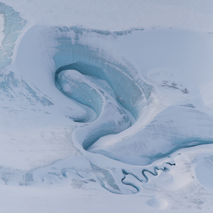 Meltwater Channels on Ellesmere Island