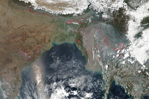 Fires in Southern Asia