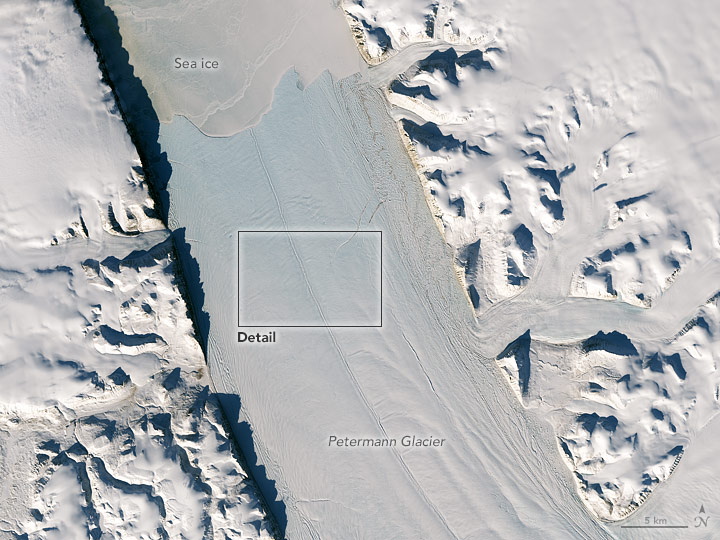 New Rift on Petermann Glacier