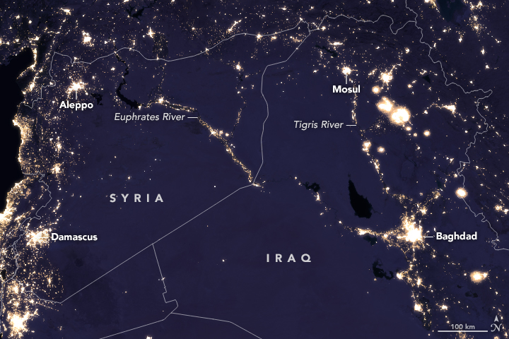 Night Lights Change in the Middle East