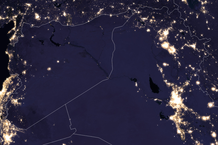 Night Lights Change in the Middle East - selected image
