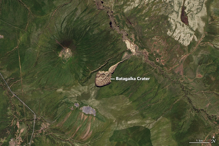 Batagaika Crater Expands
