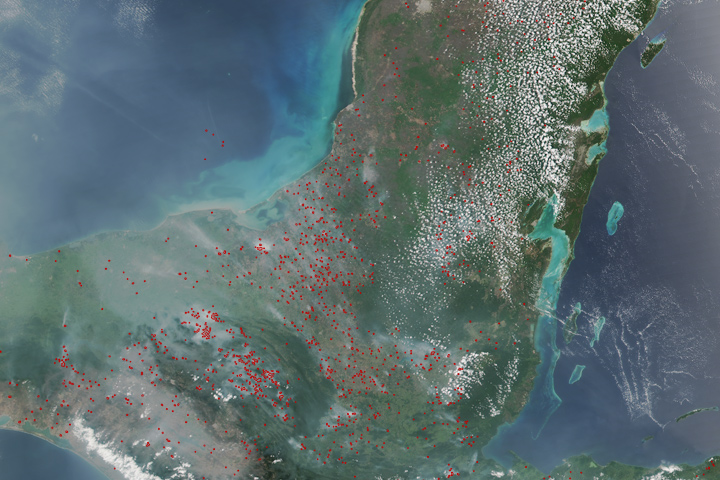 Fires in the Yucatan