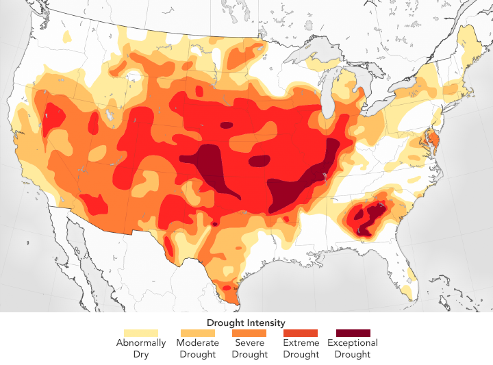 Drought Has Disappeared from Much of the U.S.