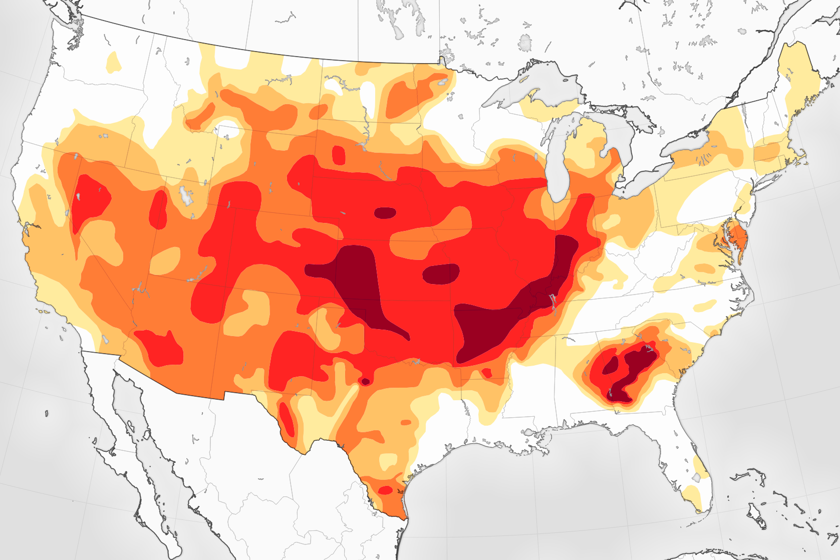 Drought Has Disappeared From Much Of The Us - Drought-map-us