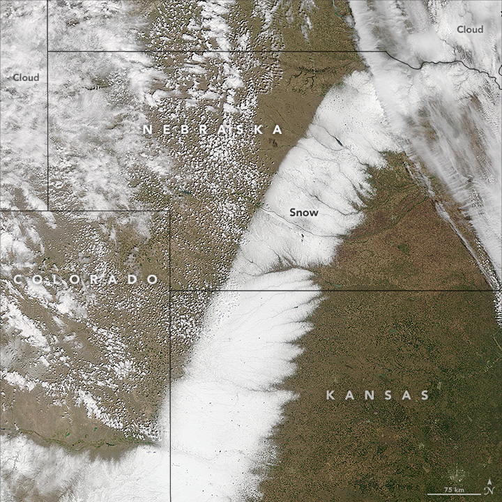 Spring Snow Across the Plains