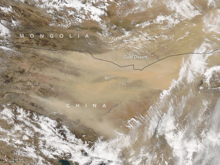 Dust Sweeps Across Northern China