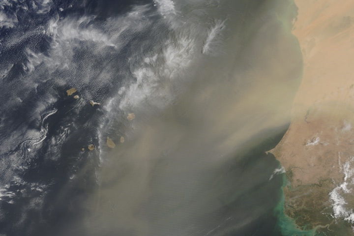 A Dusty Day Over Western Africa