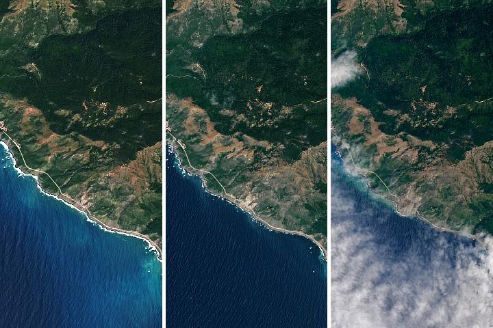 Landslide Buries Scenic California Highway