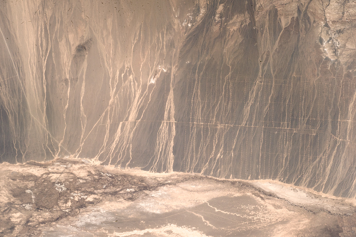Drainage Patterns and Wind Farms in Northwest China