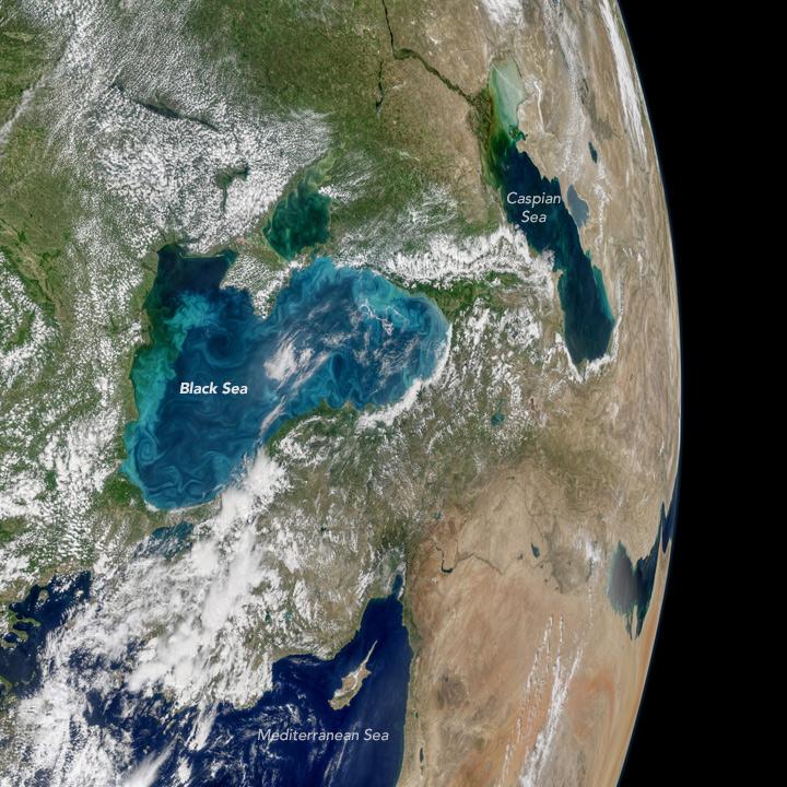 Turquoise Swirls in the Black Sea