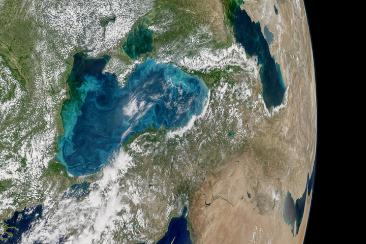 Turquoise Swirls in the Black Sea