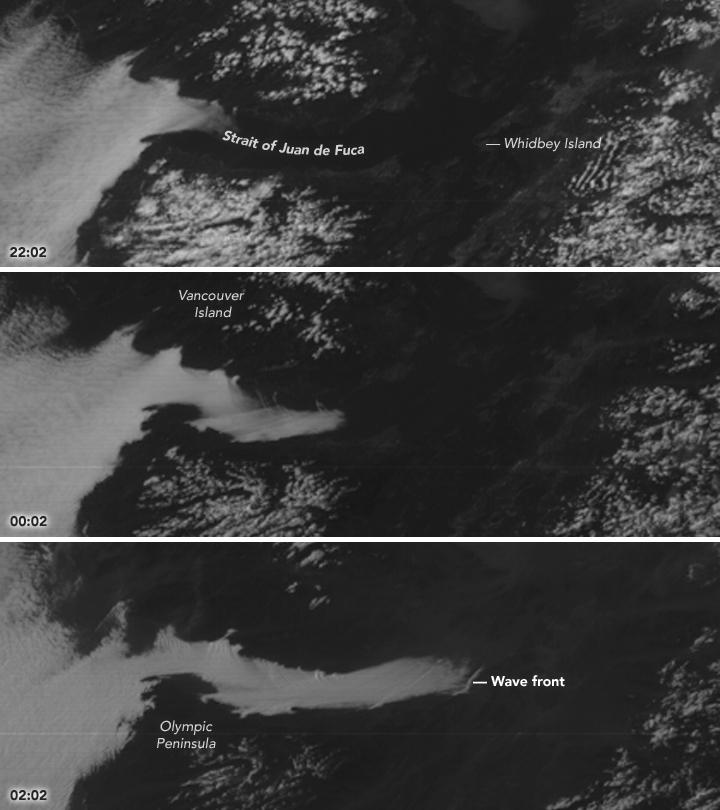 Fog Fills the Strait of Juan de Fuca