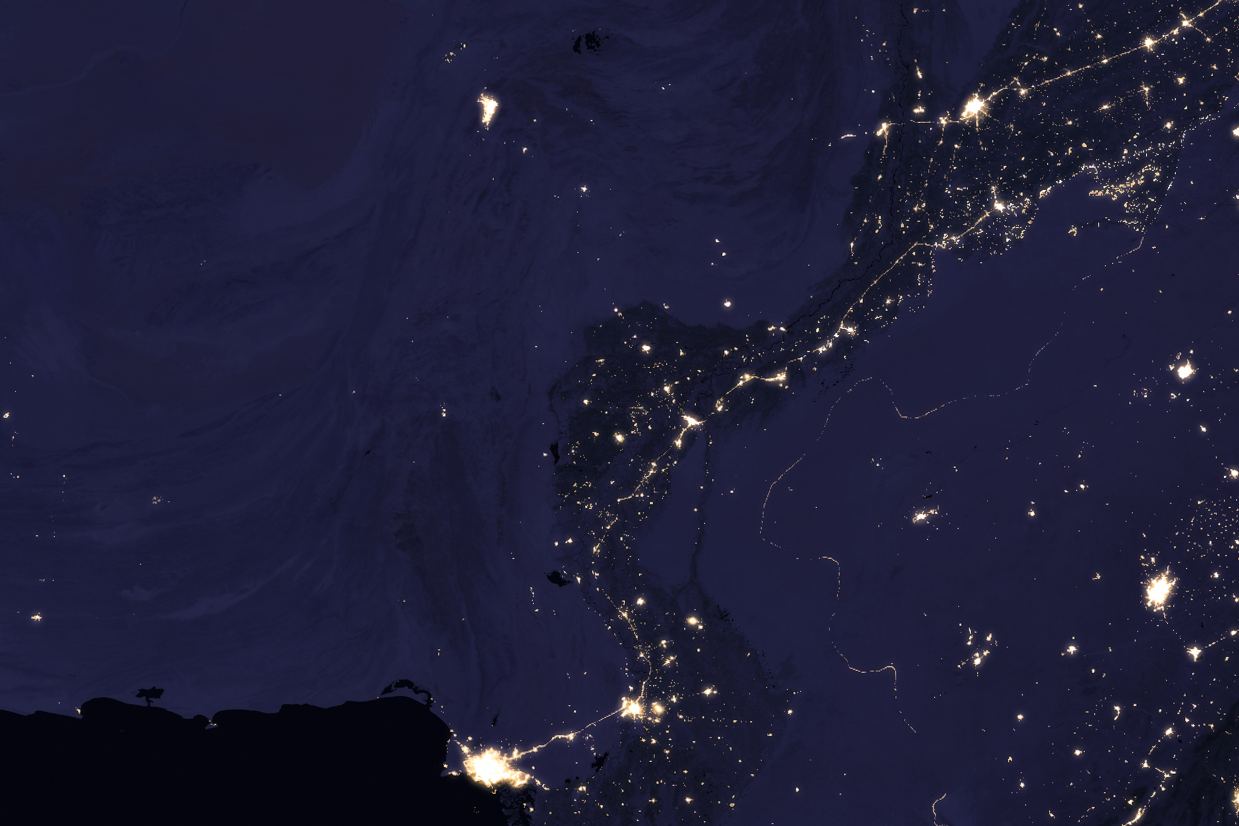 The Glow of the Indus River Basin - related image preview