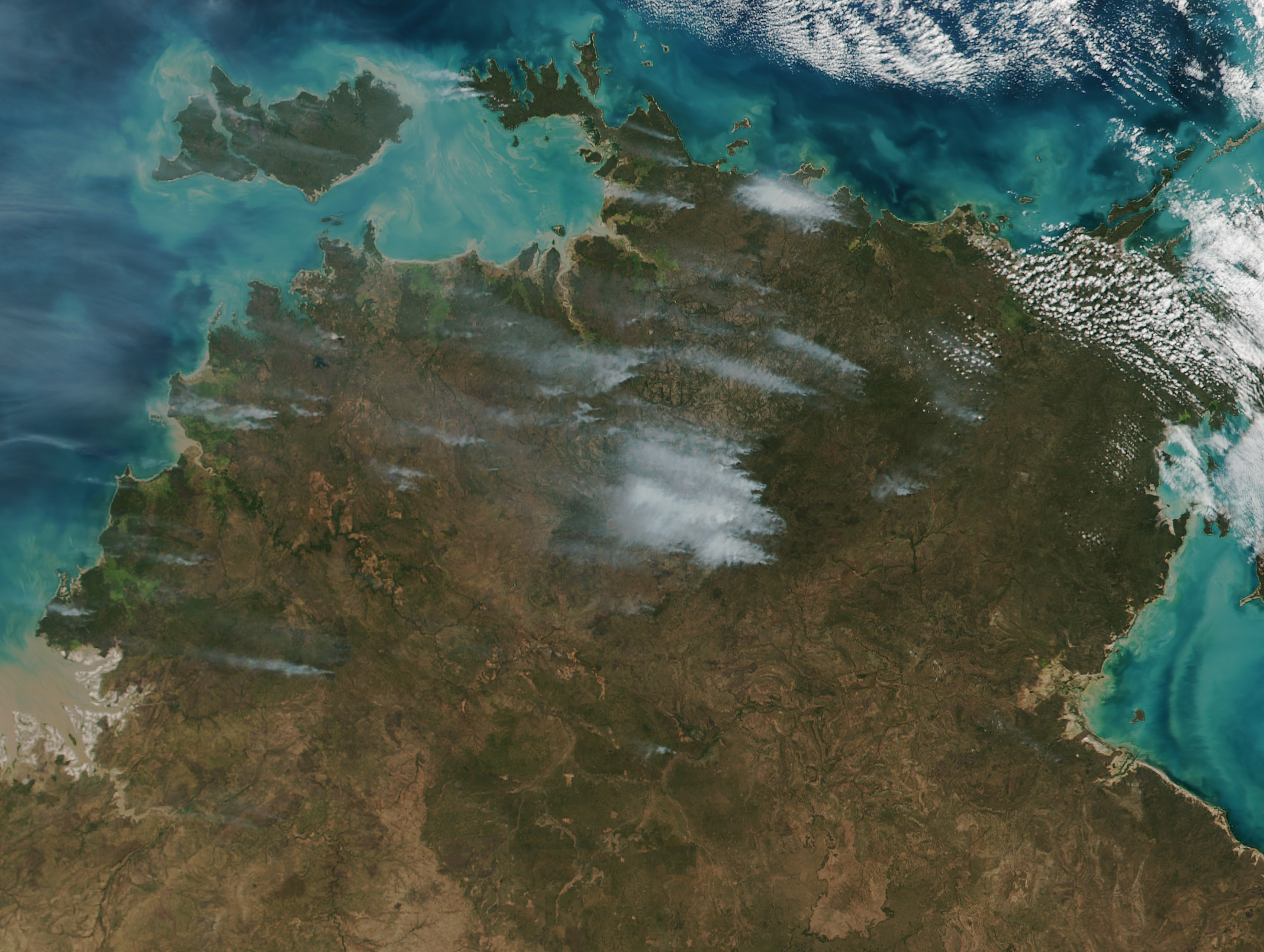 Map of Fires in Northern Australia (NASA)