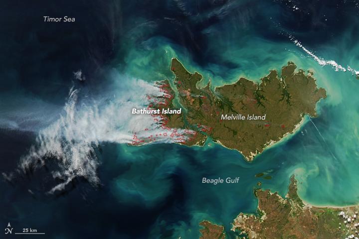 Smoke and Fire on Bathurst Island