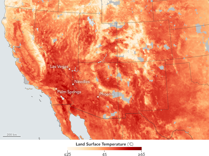 Heat Broils the American Southwest