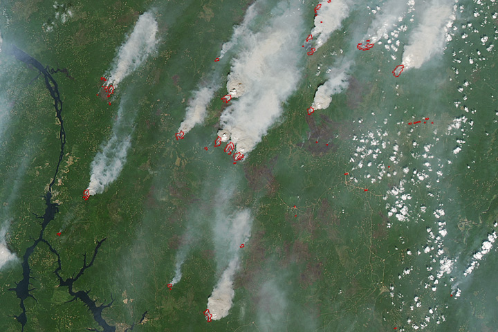 Fires Rage Near Lake Baikal