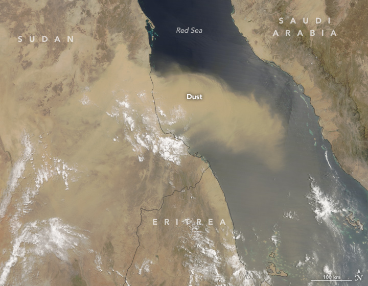 Dust Above the Red Sea