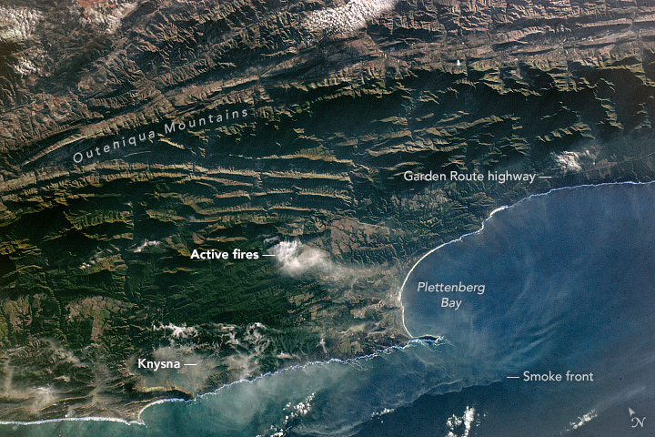 Western Cape Fires on the Outeniqua Mountains