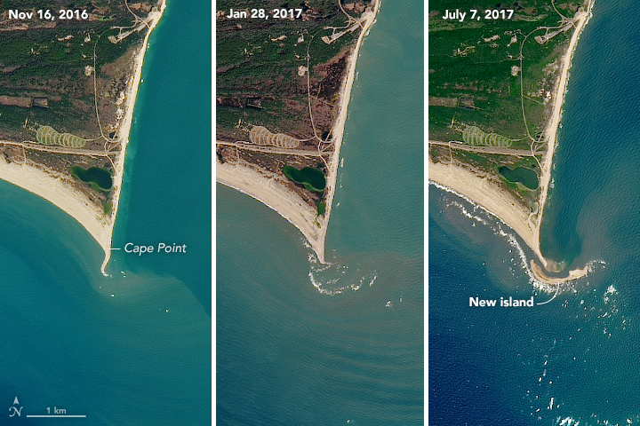 Island Rises Up off of Cape Hatteras