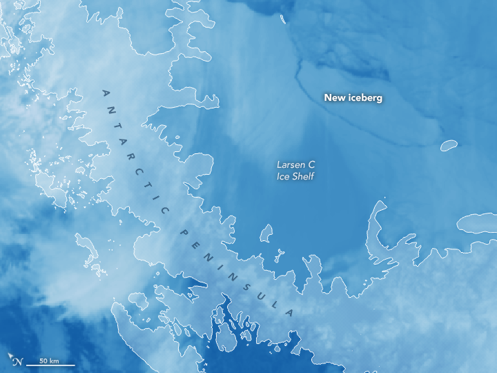 Antarctic Ice Shelf Sheds Massive Iceberg - related image preview