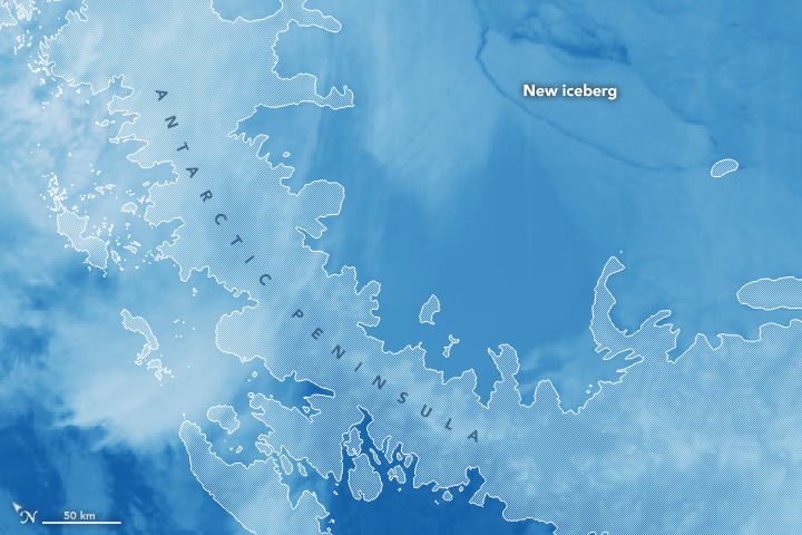 Antarctic Ice Shelf Sheds Massive Iceberg