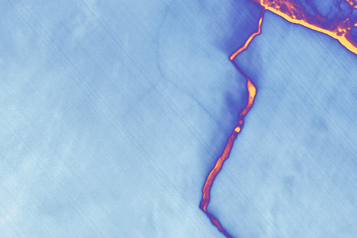 Landsat Spots Birth of Iceberg A-68 - selected image