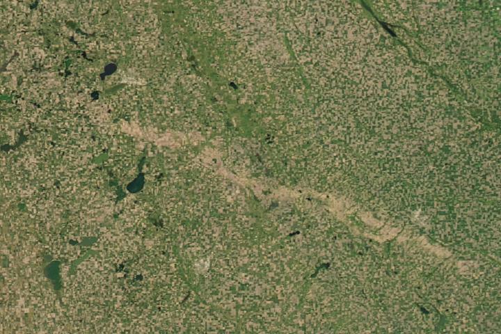 Using Satellites to Spot a Hail Scar