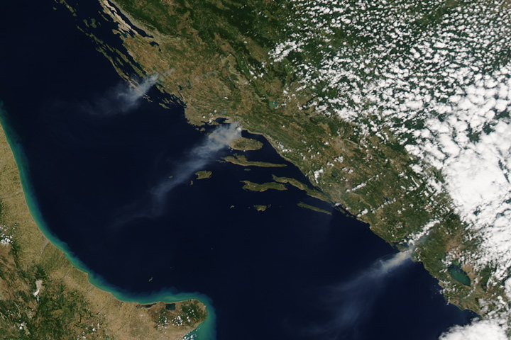 Fires Along the Adriatic Coast