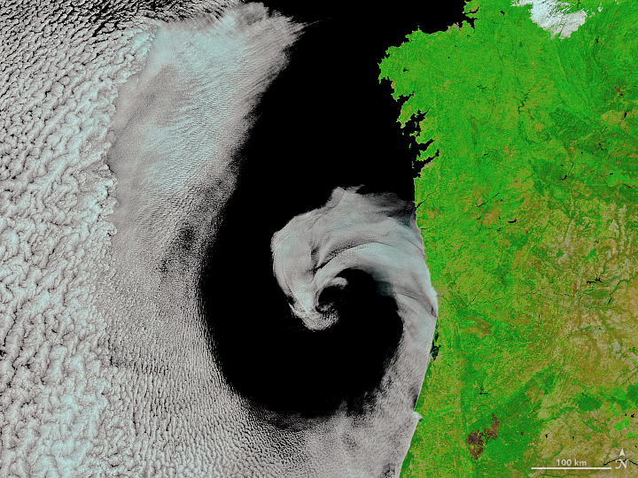 Cyclonic Rotation off Portugal - related image preview