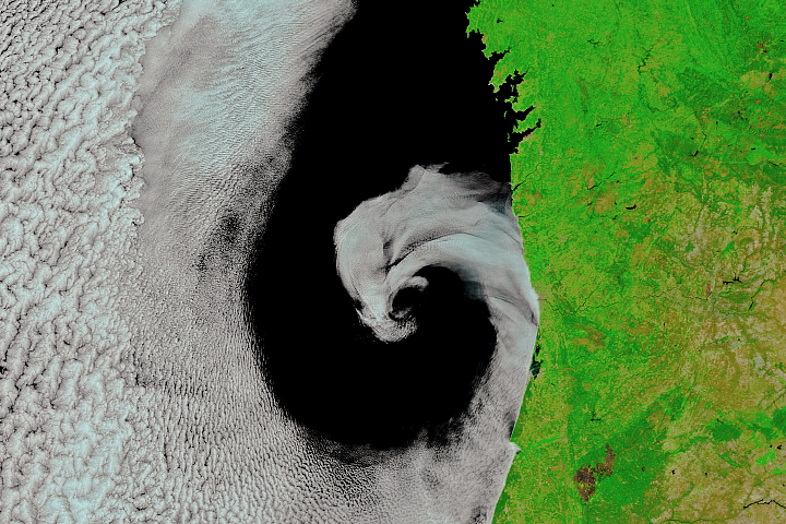Cyclonic Rotation off Portugal - selected image