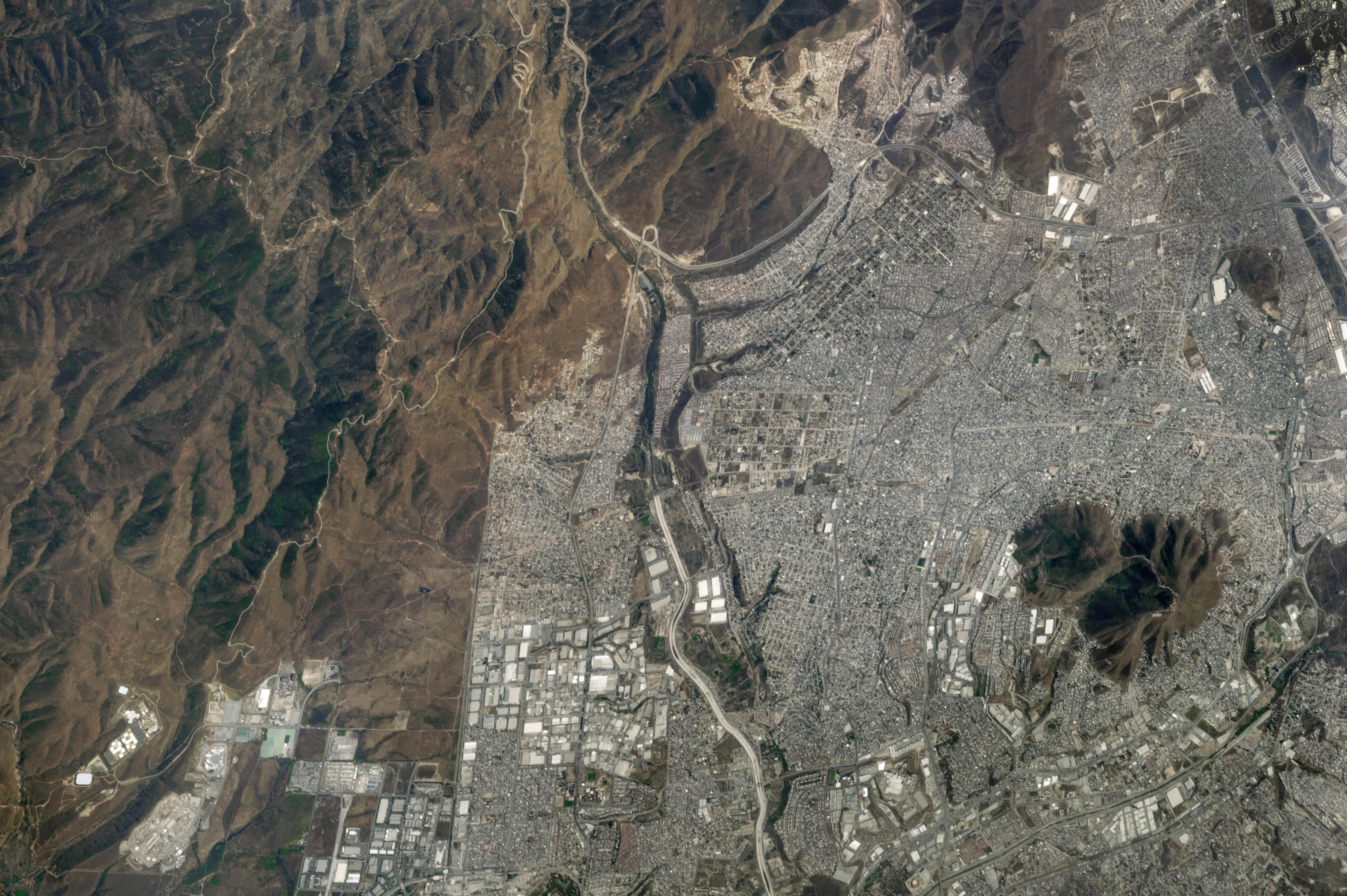 Tijuana and the MexicoUS Border Image of the Day