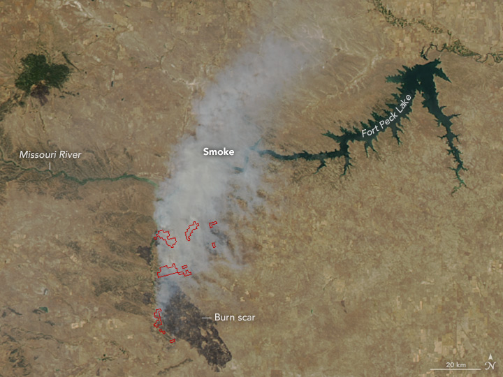 Grassland Fires Tear Through Montana