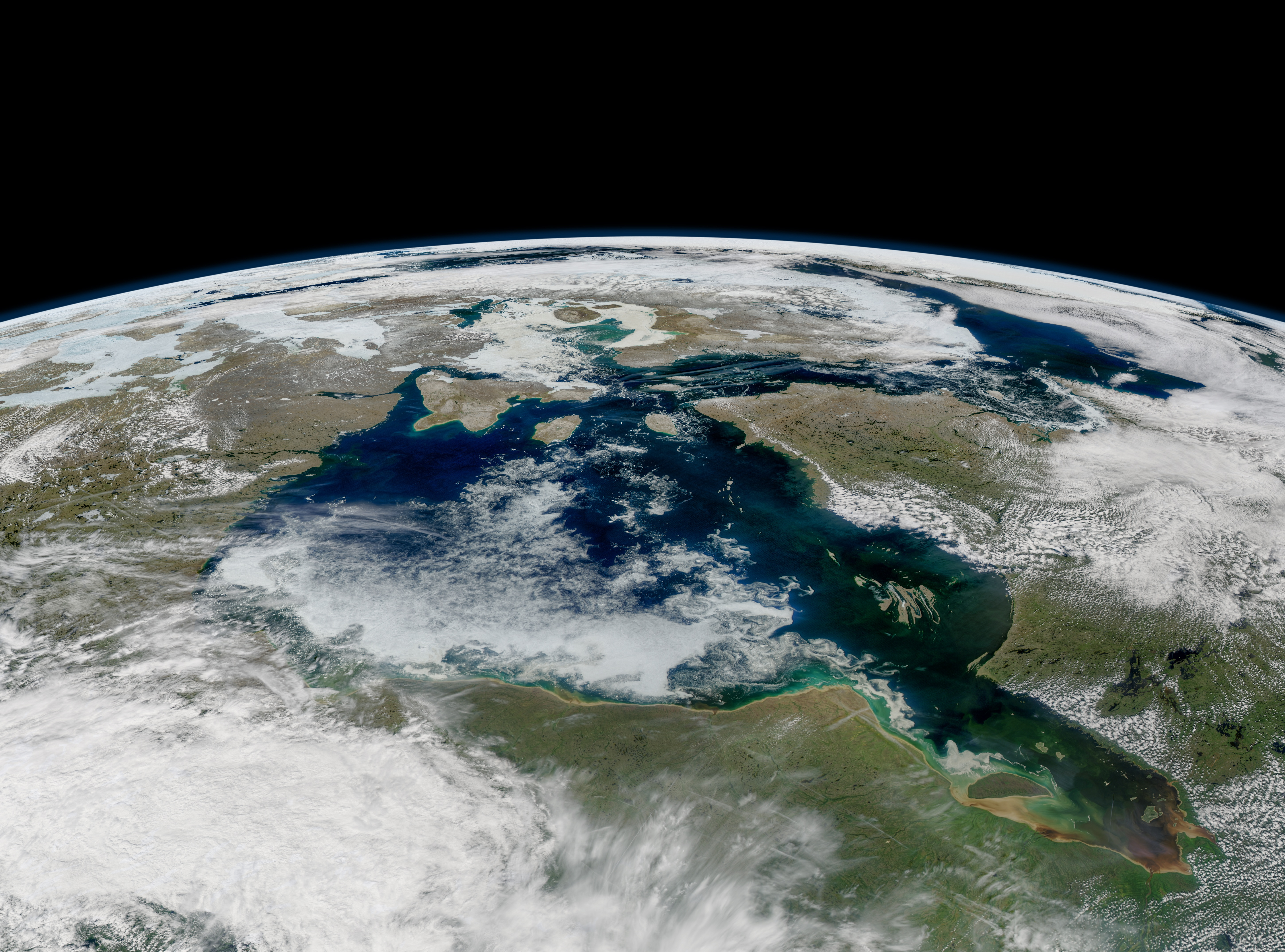 Lingering Sea Ice on Hudson Bay : Image of the Day