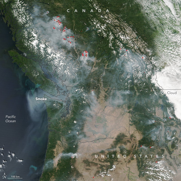 Smoke Spreads Across the U.S. and Canadian West