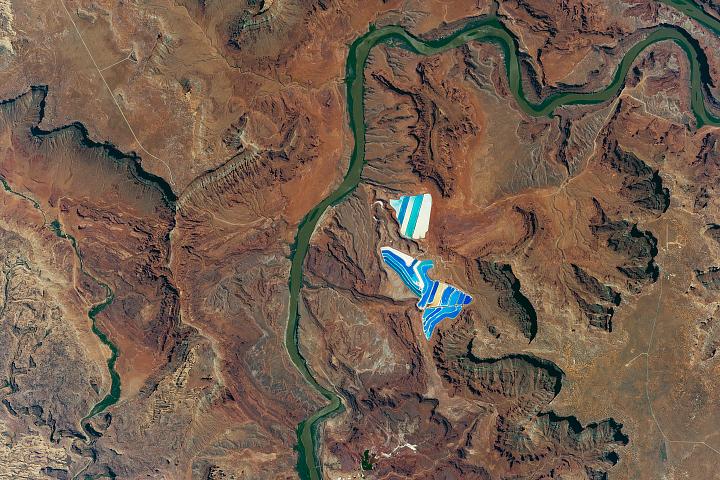 Solar Evaporation Ponds near Moab, Utah