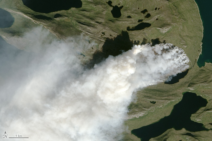 Unusual Wildfire Burns in Greenland