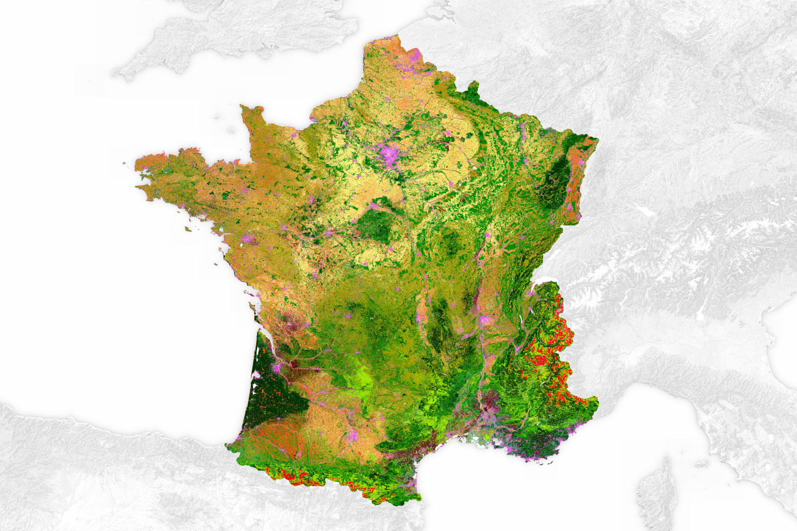 Land cover map of france image of the day land cover map of france gumiabroncs Choice Image